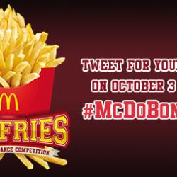 Show your school spirit and win McDo Bonfries!