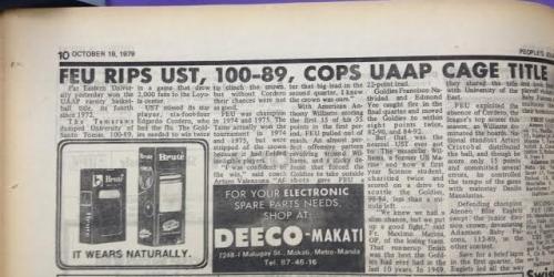 FLASHBACK: FEU vs. UST in the 1979 UAAP Finals