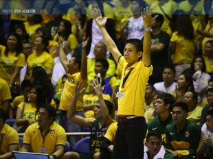 Tamaraw's bench during the last minutes of Game 2